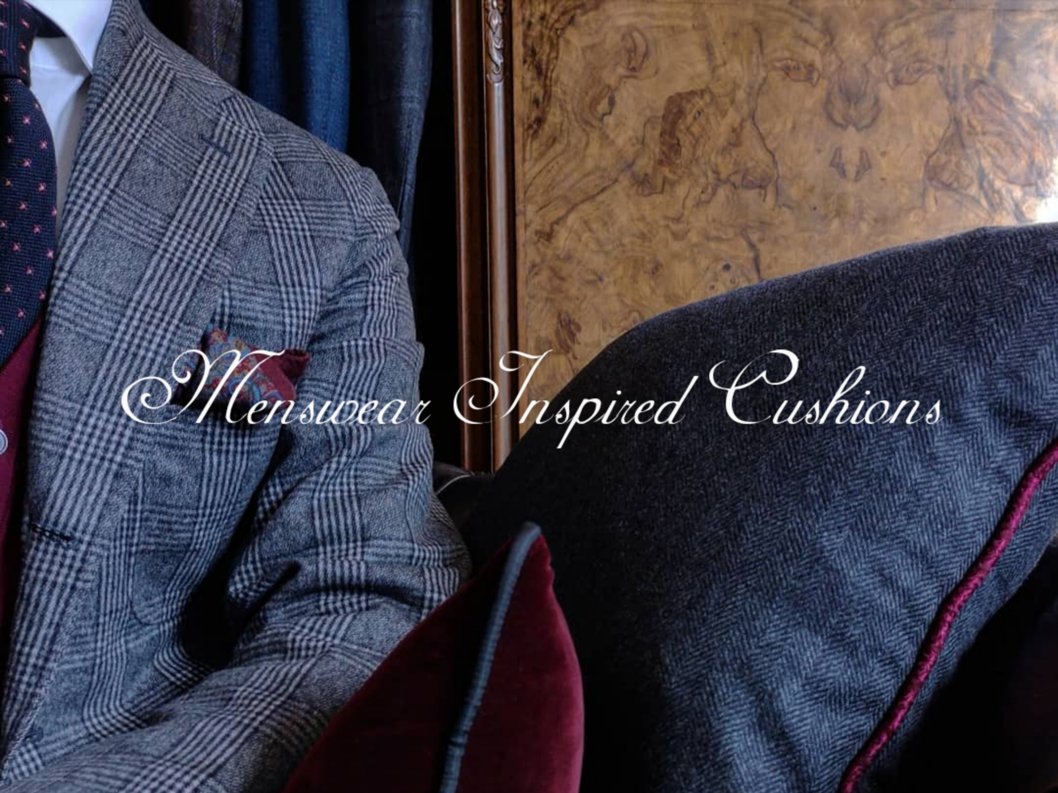 Sartorial Tailored Masculine Menswear Pillows