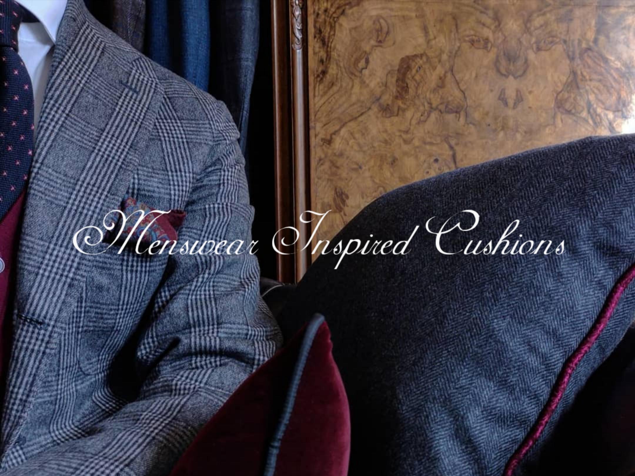 Sartorial Home Menswear Masculine Cushions