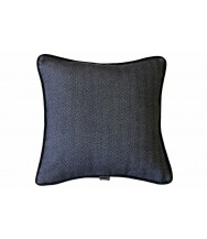 Sartorial Home Charcoal Chevron Cashmere Cushion
