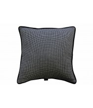 Sartorial Home Black & White Dogtooth Cashmere Cushion