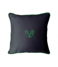Wimbledon Personalised Tennis Embroidered Navy Blue Cushion
